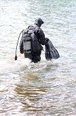 rescue diver in neoprene