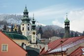 pic of banska  - Tower Old castle - JPG
