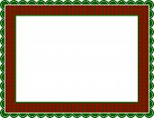 Christmas Gingham Frame
