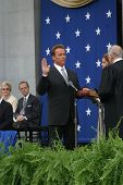 SACRAMENTO - NOV 17: Arnold Schwarzenegger at the Governor Swearing In Ceremony at the Capitol in Sa