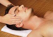 Man getting a face massage