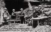 FRANCE - CIRCA 1914-1918: Salvation Army making Donuts - postcard depicting Salvation Army making do