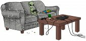 Alien Playing Video Games
