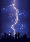 Lightning Strikes In Big City
