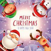 Santa4_friends_circle 05 poster