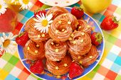Small Twisted Donuts With Icing