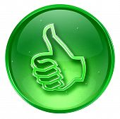 picture of thumbs-up  - thumb up icon approval Hand Gesture isolated on white background - JPG