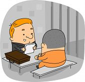 Illustration of a Lawyer at Work