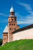 Kokui Tower, a fortification. Veliky Novgorod Kremlin. Russia