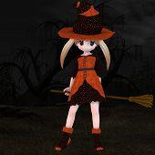 Little Hallowen Witch #03