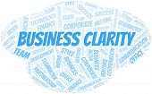 Business Clarity Word Cloud. Collage Made With Text Only. poster