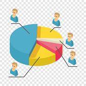 Statistics Icon. Isometric Illustration Of Statistics Vector Icon For Web poster