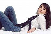 Attractive Girl With Suspenders
