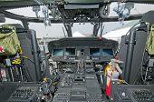 cockpit of Sikorsky helicopter