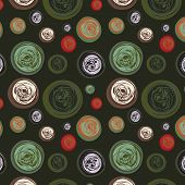 Dark Seamless Background With Abstract Circles