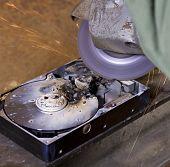 Hard Disk Driveand Angle Grinder