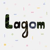 Concept Of Lagom Scandinavian Lifestyle Philosophy. Scandinavian And Swedish Lifestyle. The Concept  poster