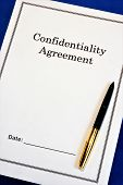 Confidentiality Agreement - Legal Form. Agreement For The Purpose Of Mutual Exchange Of Materials, W poster