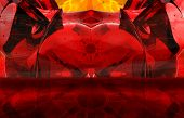 Red Devil Abstract