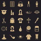 Fashion Designer Icons Set. Simple Set Of 25 Fashion Designer Icons For Web For Any Design poster