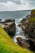View Of The Water Inlet On A Rocky Cliff In The Coastal Walk Route From Doolin To The Cliffs Of Mohe poster