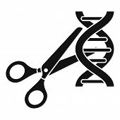 Cutted Dna Molecule Icon. Simple Illustration Of Cutted Dna Molecule Vector Icon For Web Design Isol poster