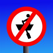 No Rowing Boats Sign