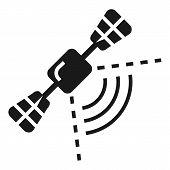 Smart Car Satellite Navigation Icon. Simple Illustration Of Smart Car Satellite Navigation Vector Ic poster