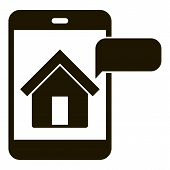 House Smartphone Observation Icon. Simple Illustration Of House Smartphone Observation Vector Icon F poster