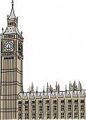 Vector of Big Ben in London