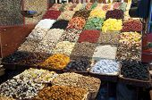 Sweets and dried fruits