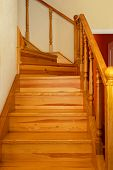 The Old Wooden Staircase In The House