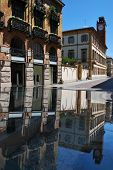 Reflection Of Ancient Buildings, Novara