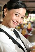 Beautiful Restaurant Staff Or Waitress At Work