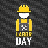 Labor Day Logo Poster, Banner, Brochure Or Flyer Design With Stylish Text  Labor Day And Workers Ico poster