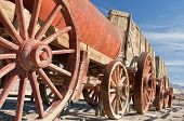 Mule wagons in Death Valley