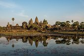 Angkor Wat Is A Temple Complex In Cambodia And The Largest Religious Monument In The World. Siem Rea poster