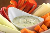 Vegetables with Tzatziki Dip