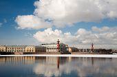 Arrow Of Vasilevsky Island In The Spring. St. Petersburg. Russia