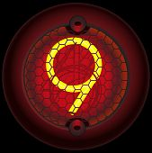 11_gas Discharge Indicator Number 9 (nine)