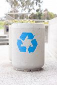 Concrete Recycle Bin