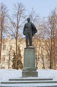 Statue Of Young Lenin In Front Of The Kazan State University, Russia