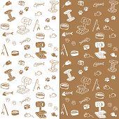 Cat supplies seamless pattern