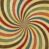 60er 70er Jahre Groovy Retro Windung Funky Wild Spirale Strahlen