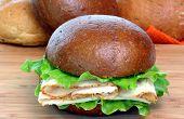 Turkey Sandwich On Roll