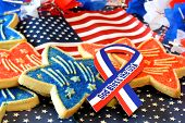 Sugar cookies decorated for July 4th