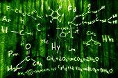 Ilustração de química ciência