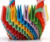 handmade paper origami basket,details