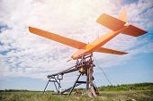 Launch Rc Hybrid Aircraft Model Of Electricity Gasoline For Mapping Agriculture And People Search poster