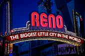 Close Up Of The Famous Reno Sign
